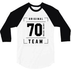 70 Year Old - 70th Birthday Funny Gift 3/4 Sleeve Shirt | Artistshot