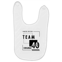 40 Year Old - 40th Birthday Funny Gift Baby Bibs | Artistshot