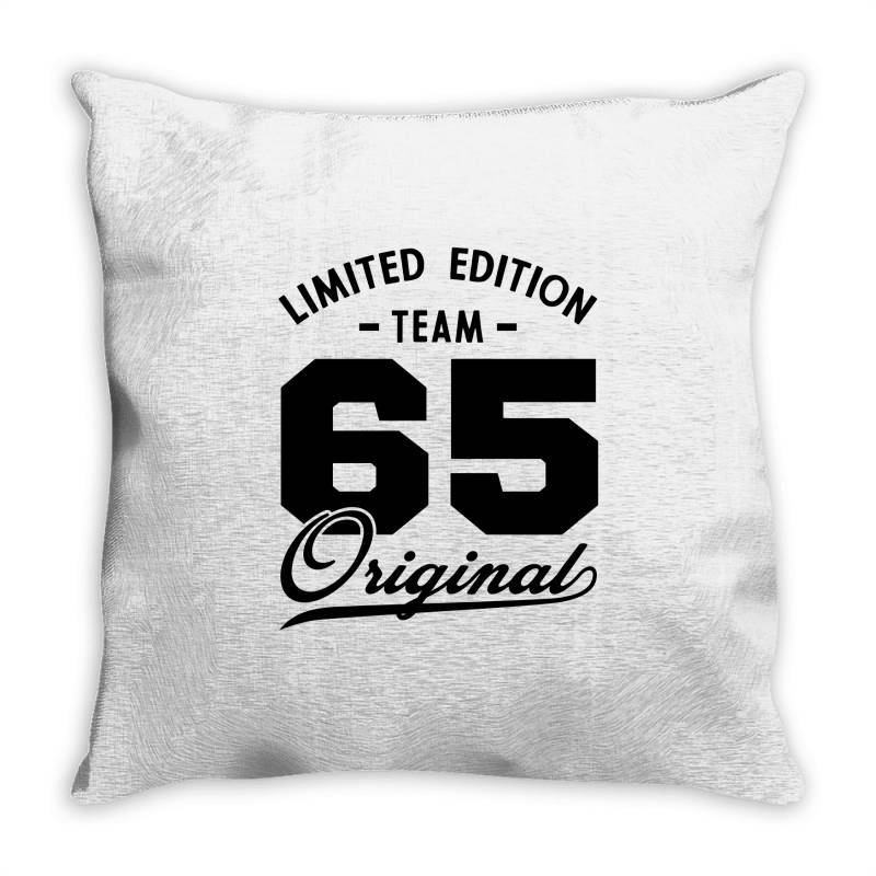 65 Year Old - 65th Birthday Funny Gift Throw Pillow | Artistshot