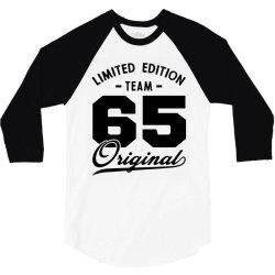 65 Year Old - 65th Birthday Funny Gift 3/4 Sleeve Shirt | Artistshot