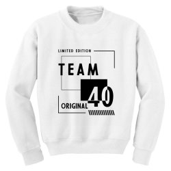 40 Year Old - 40th Birthday Funny Gift Youth Sweatshirt | Artistshot