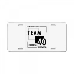 40 Year Old - 40th Birthday Funny Gift License Plate | Artistshot