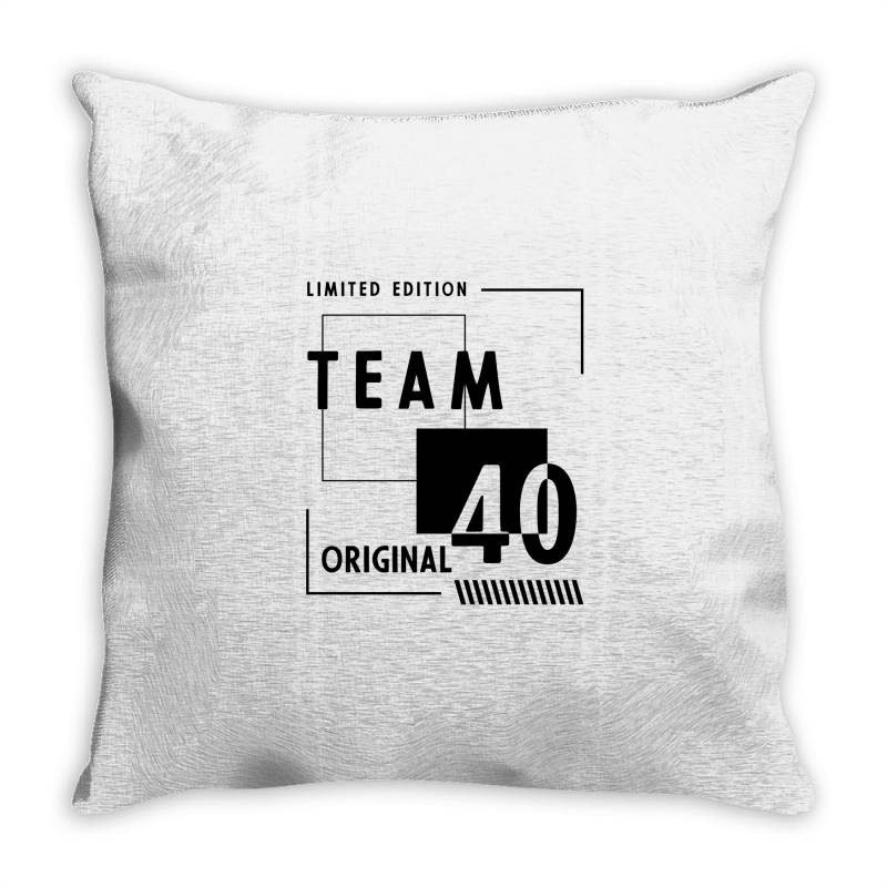 40 Year Old - 40th Birthday Funny Gift Throw Pillow | Artistshot