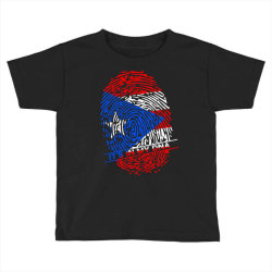 Puerto Rico finger print DNA Toddler T-shirt | Artistshot