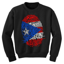 Puerto Rico finger print DNA Youth Sweatshirt | Artistshot