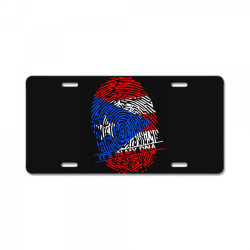 Puerto Rico finger print DNA License Plate | Artistshot