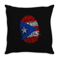 Puerto Rico finger print DNA Throw Pillow | Artistshot