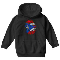 Puerto Rico finger print DNA Youth Hoodie | Artistshot