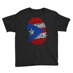 Puerto Rico finger print DNA Youth Tee | Artistshot