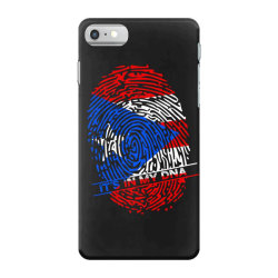 Puerto Rico finger print DNA iPhone 7 Case | Artistshot