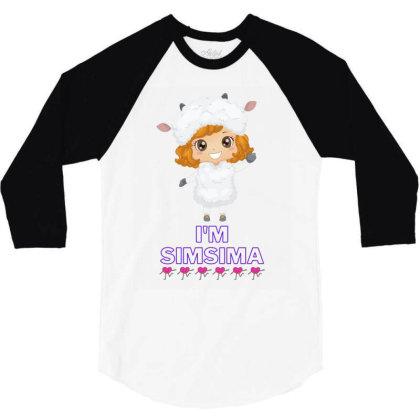 Baby Simsima Farm Funny Sheep 3/4 Sleeve Shirt Designed By Slowllymann
