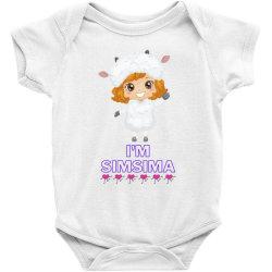 Baby Simsima Farm Funny Sheep Baby Bodysuit   Artistshot
