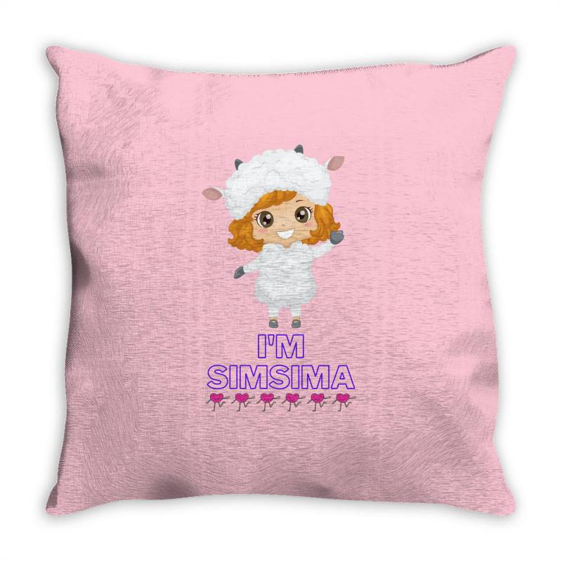 Baby Simsima Farm Funny Sheep Throw Pillow | Artistshot