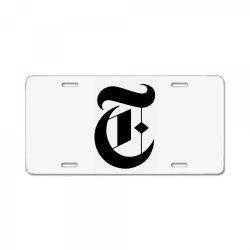 new york times License Plate | Artistshot