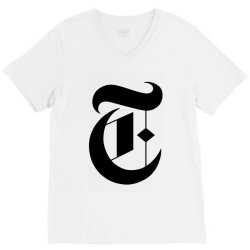 new york times V-Neck Tee | Artistshot