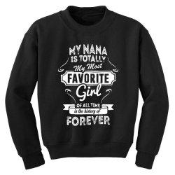 my most favorite girl Youth Sweatshirt | Artistshot