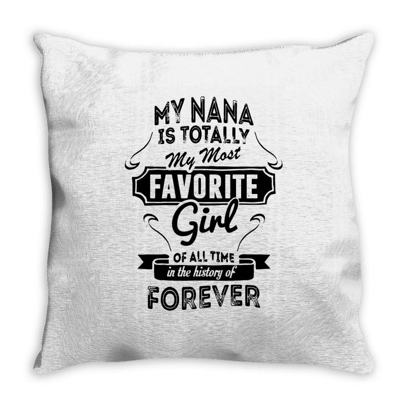 My Most Favorite Girl Throw Pillow | Artistshot