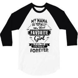 my most favorite girl 3/4 Sleeve Shirt | Artistshot
