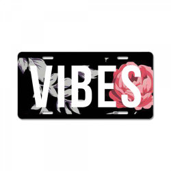 GOOD VIBES ONLY FLORAL DESIGN License Plate | Artistshot