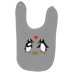 chibi penguin love Baby Bibs | Artistshot