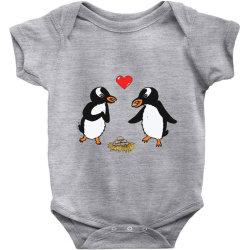 chibi penguin love Baby Bodysuit | Artistshot