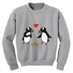 chibi penguin love Youth Sweatshirt | Artistshot