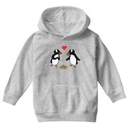 chibi penguin love Youth Hoodie | Artistshot