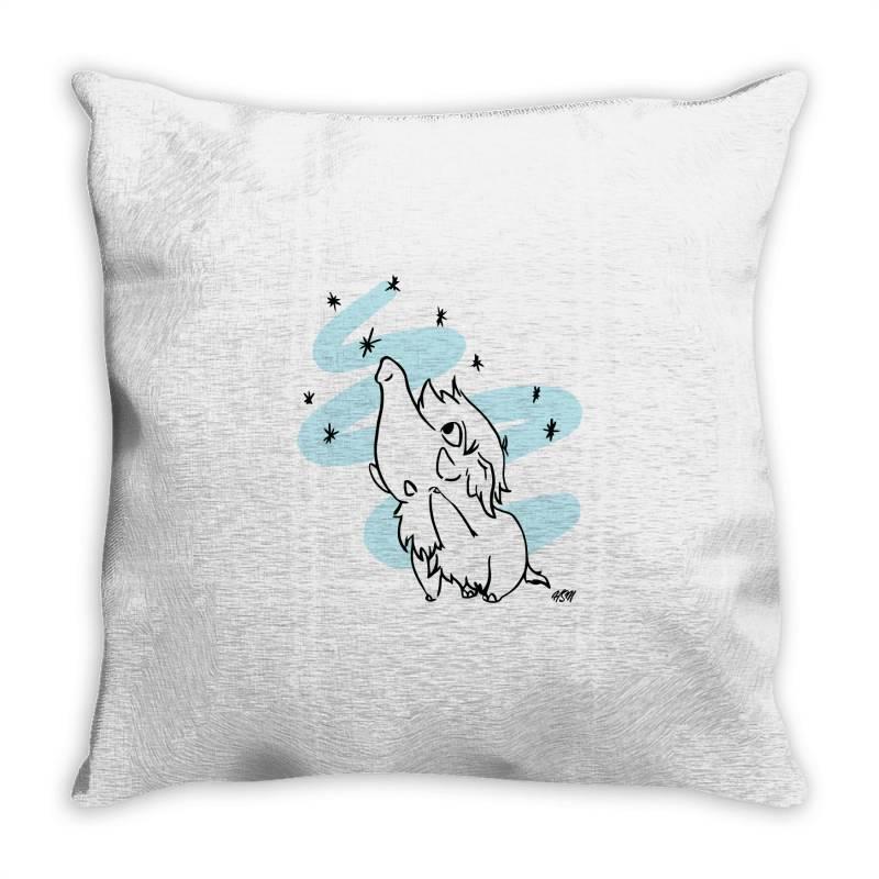 Cute Woolly Winter Mammoth Throw Pillow | Artistshot