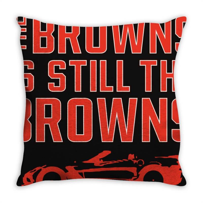 The Browns Is The Browns Throw Pillow | Artistshot