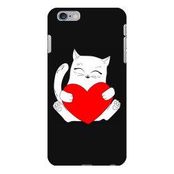 cat holding heart valentine iPhone 6 Plus/6s Plus Case | Artistshot