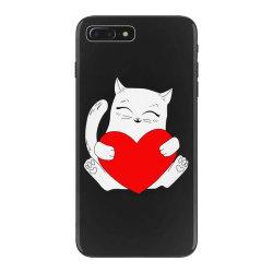 cat holding heart valentine iPhone 7 Plus Case | Artistshot
