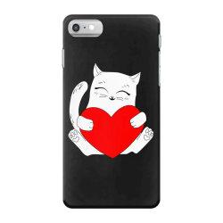 cat holding heart valentine iPhone 7 Case | Artistshot