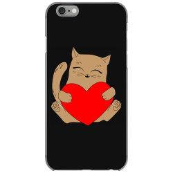 coklat cat holding heart iPhone 6/6s Case   Artistshot
