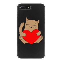 coklat cat holding heart iPhone 7 Plus Case   Artistshot