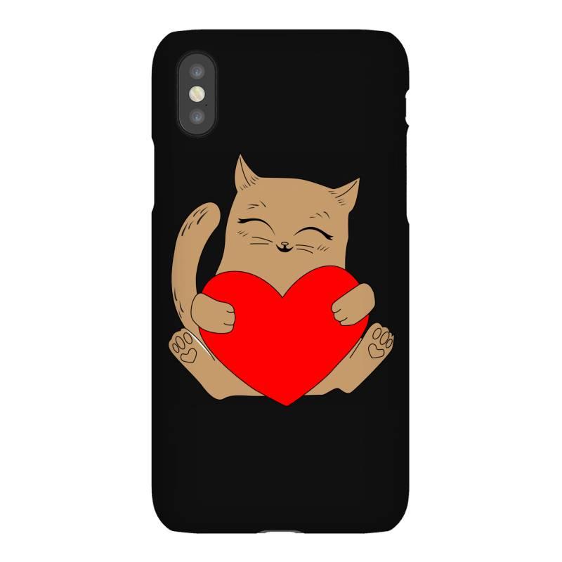 Coklat Cat Holding Heart Iphonex Case   Artistshot