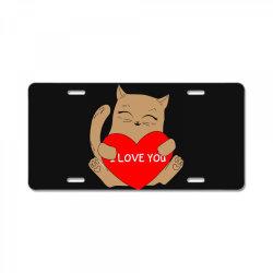i love you License Plate | Artistshot