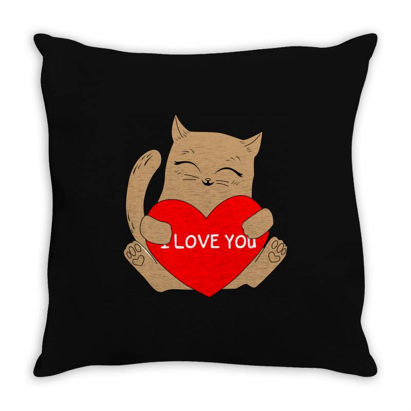 I Love You Throw Pillow | Artistshot