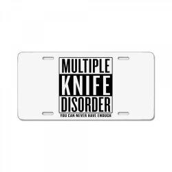 multiple knife disorder License Plate | Artistshot