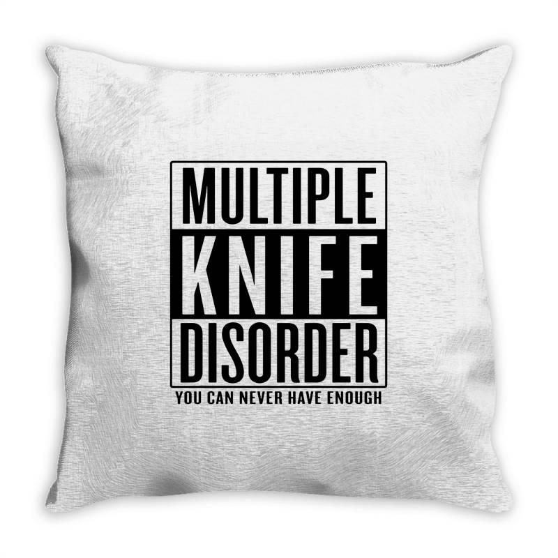 Multiple Knife Disorder Throw Pillow | Artistshot