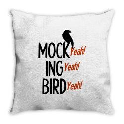 mocking bird Throw Pillow | Artistshot