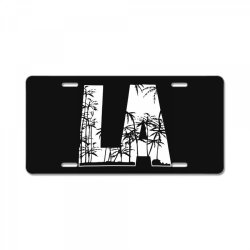 la palm trees License Plate | Artistshot