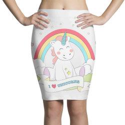 Unicorn cute cartoon art Pencil Skirts   Artistshot