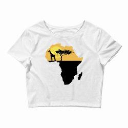 AFRICA GIRAFFE SUNSET Crop Top | Artistshot
