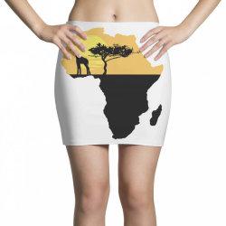 AFRICA GIRAFFE SUNSET Mini Skirts | Artistshot