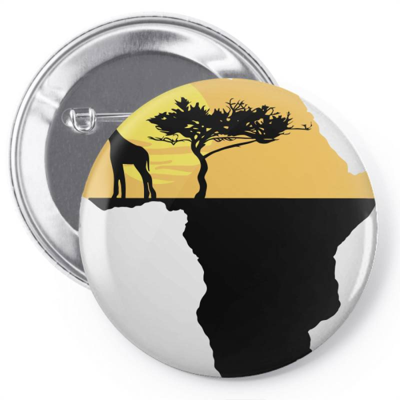 Africa Giraffe Sunset Pin-back Button | Artistshot
