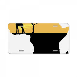 AFRICA GIRAFFE SUNSET License Plate | Artistshot
