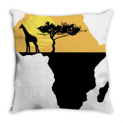 AFRICA GIRAFFE SUNSET Throw Pillow | Artistshot
