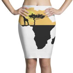 AFRICA GIRAFFE SUNSET Pencil Skirts | Artistshot