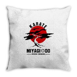 karate miyagi do reseda okinawa Throw Pillow | Artistshot