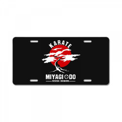 karate miyagi do reseda okinawa License Plate | Artistshot